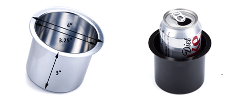 aluminum cup holders are 3.25