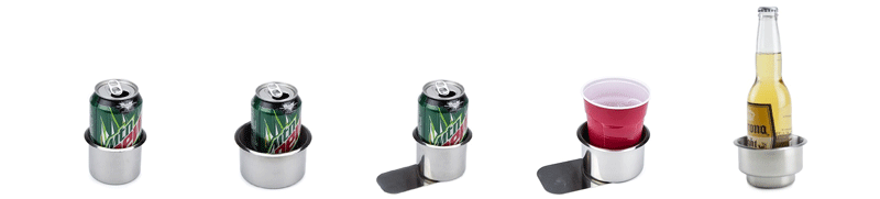 stainless steel cup holders are used to hold you drinks at the table