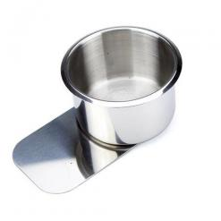 small slide under stainless steel cup holder
