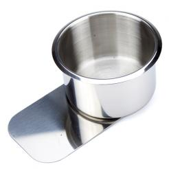 large slide under stainless steel cup holder