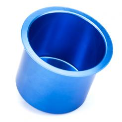 blue aluminum poker table cup holders