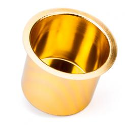 gold aluminum cup holder