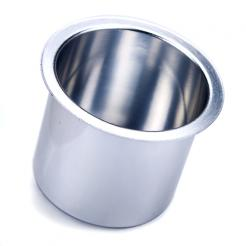 silver aluminum cup holders
