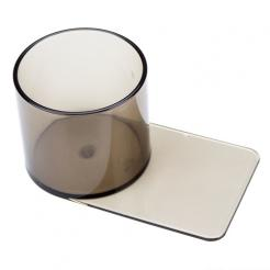 small slide under plastic poker table cup holder