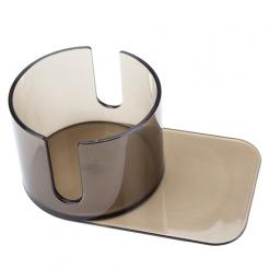 large slide under plastic poker table cup holder with cut out