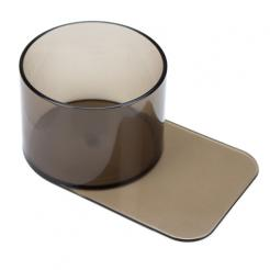 large slide under plastic poker table cup holders