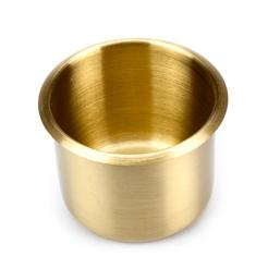 small brass poker table cup holder