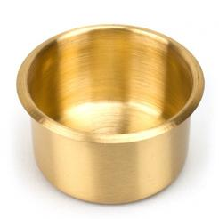 large brass poker table cup holder