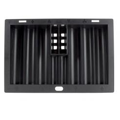 This dealer chip tray will hold 2 decks of playing cards and up to 300 poker chips