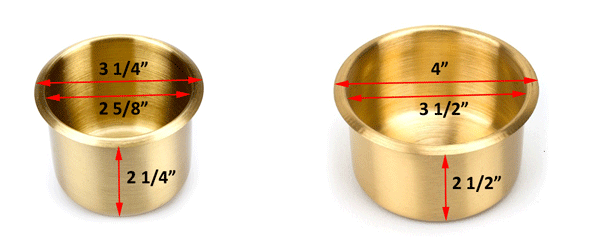 the drop in brass cup holders are designed to fit into a hole in the poker table