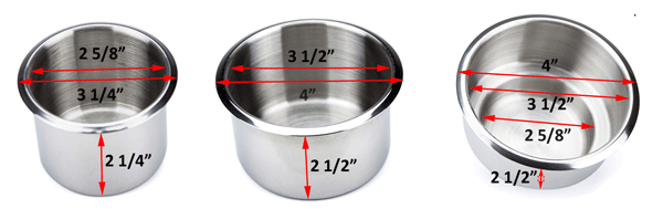 the drop in stainless steel cup holders are designed to fit into a hole in the poker table